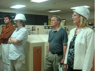CEPL staff visiting a power generation facility.