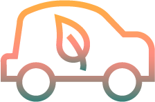 Multicolored Energy Efficient Car Icon