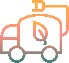 Multicolored Energy Efficient Truck Icon