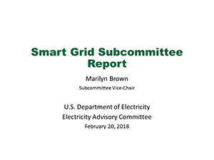 Smart Grid Subcommittee Presentation